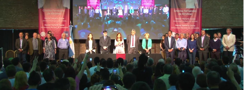 Acto de Entrega del Doctor Honoris Causa a Cristina Fernández de Kirchner